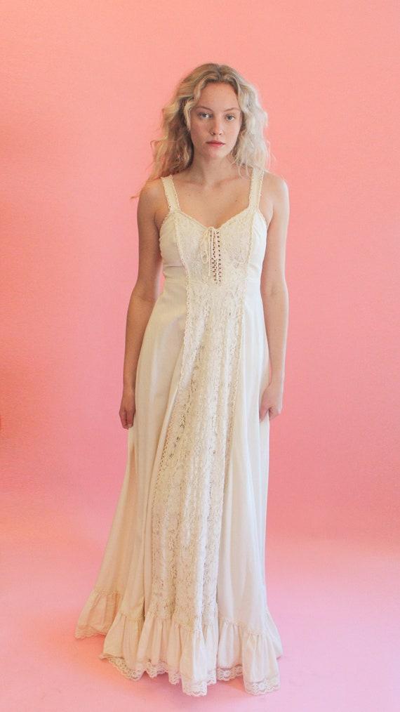 Gunne Sax Lace Up Dress