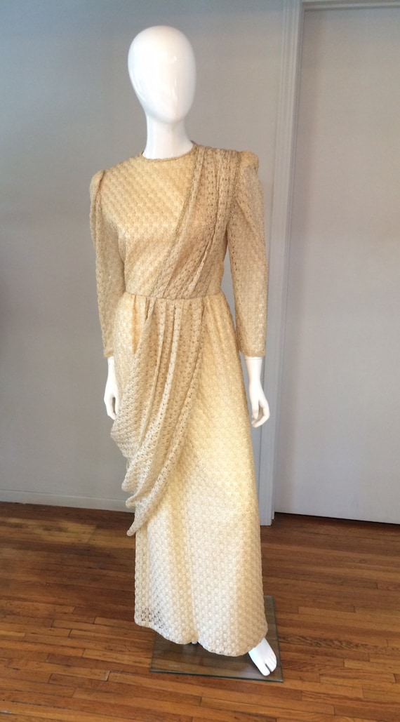 Vintage 1980\'s Gold Metallic Grecian Goddess   Etsy