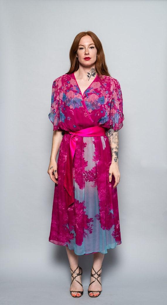 Hanae Mori Silk Chiffon Dress