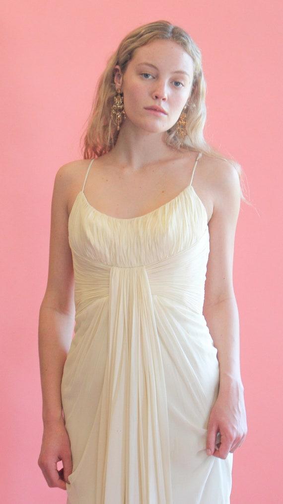 1950's White Chiffon Dress - image 2