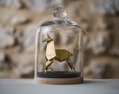 Sculpture Origami Unicorn. Blade Runner. Paper anniversary gift for her. Taxidermy. Gold Ornament. First Wedding Gift For Her. Curiosity.