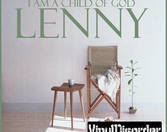 Lenny I am a child of god - Vinyl Wall Decal - Wall Quotes - Vinyl Sticker - Boysbedroom02ET