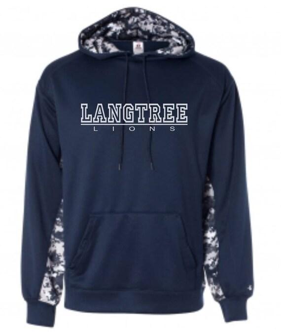 LANGTREE SPIRITWEAR 301 Navy White Digital Camo Hoodie  94f1b0b20dd