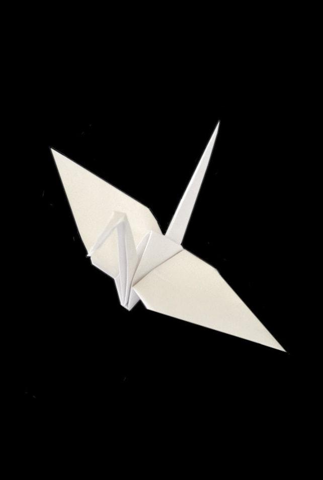 White Origami Cranes 50 White Cranes White Wedding Decor Etsy