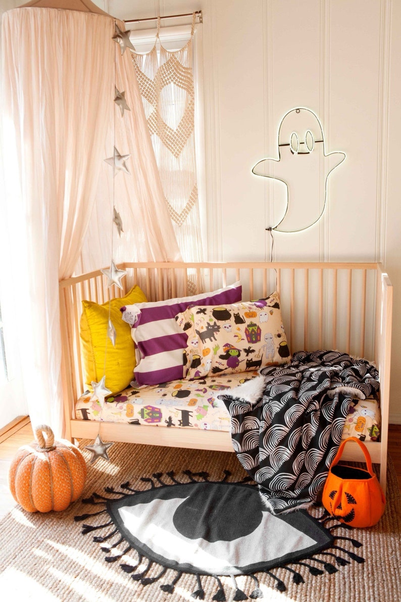 Halloween Crib Bedding Set by WoolfWithMe