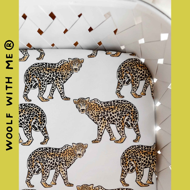 Crib Bedding Fitted Sheet Baby, Leopard Baby Bedding