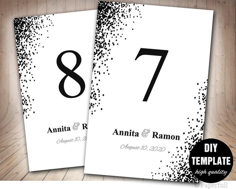 Confeti boda tabla Tarjeta plantilla de tarjeta de mesa de  7e915cc1f2e