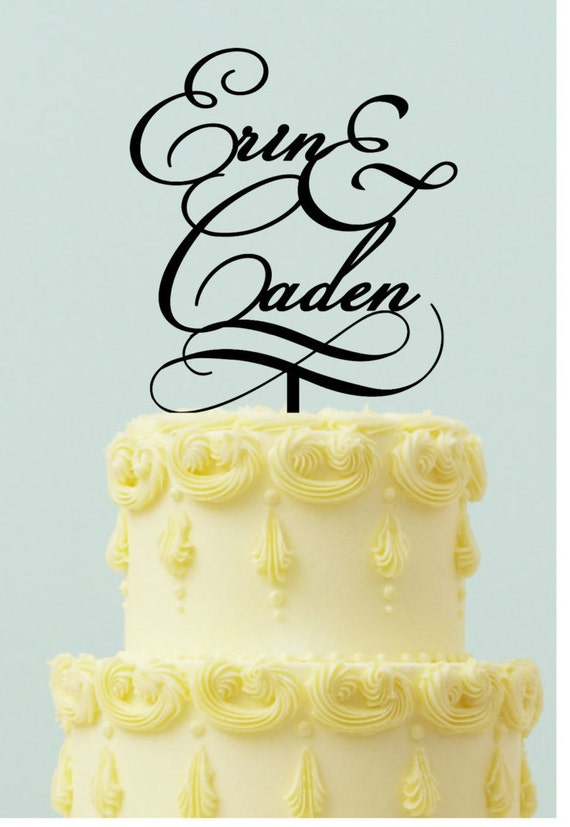 Personalized Wedding Cake topper First Names with | Etsy