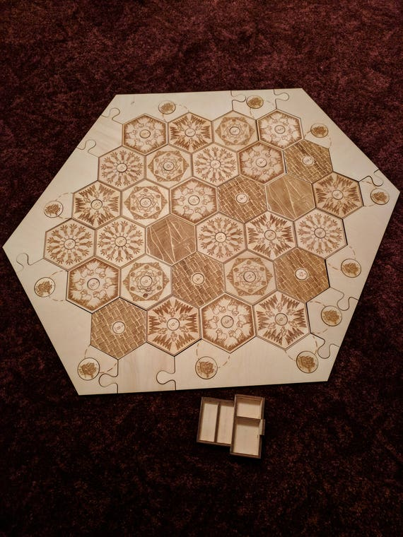 Settlers Of Catan Custom Wooden Game Board Including 5 6 Player Extension Board Only