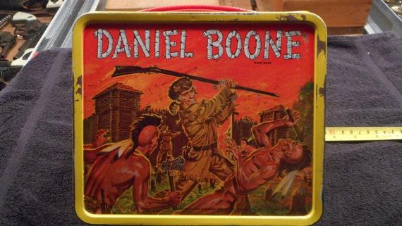 1955 Aladdin Daniel Boone Lunch Box - Nice shape-