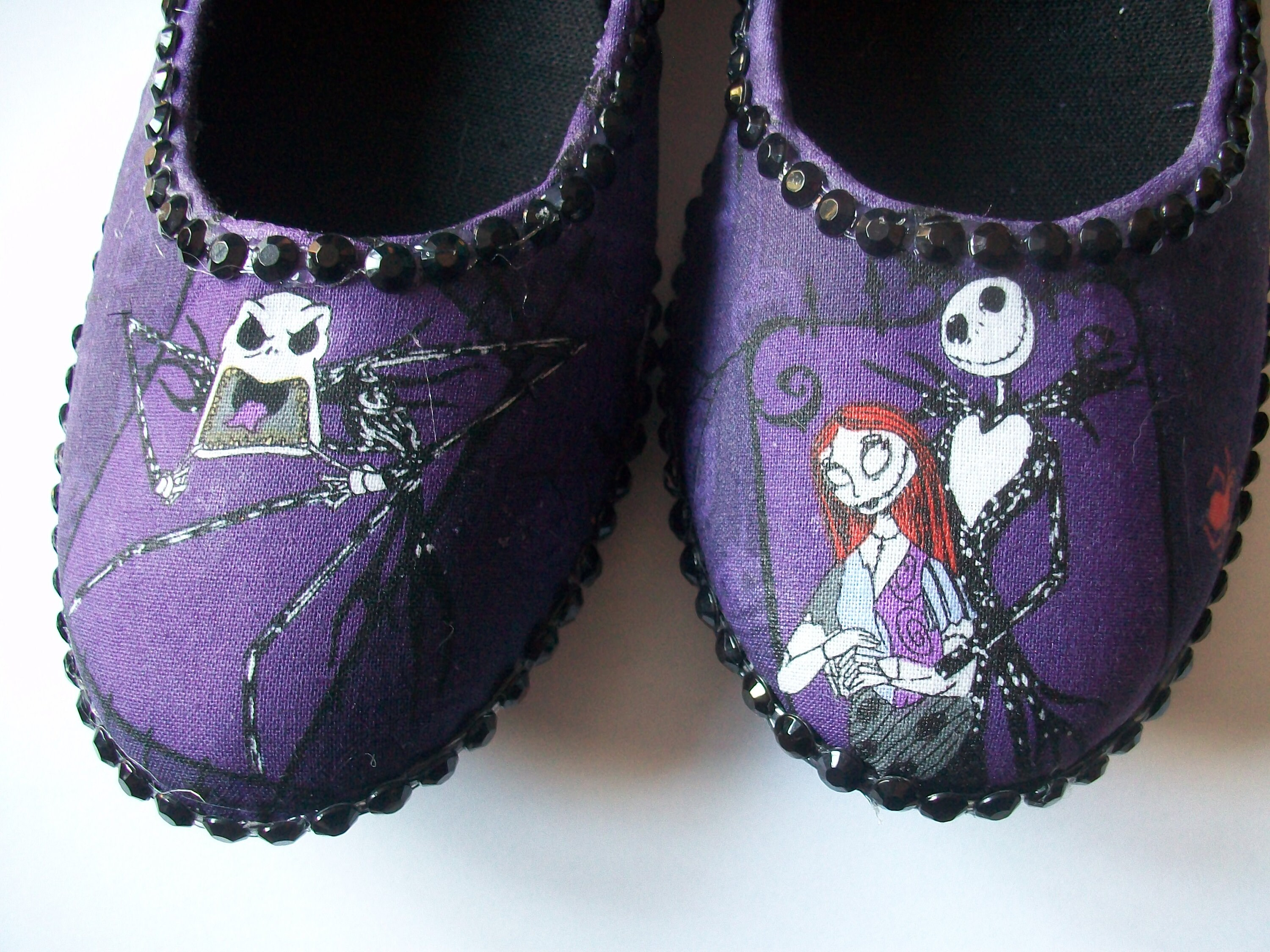Customised Nightmare before christmas Jack and sally Fabric covered ...