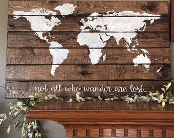 Wood world map etsy gumiabroncs Choice Image