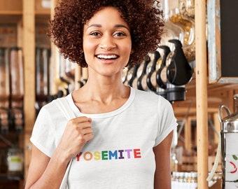 Yosemite Organic Crop Top | National Park Tees | Colorful, Inclusive, and Organic | LGBTQ