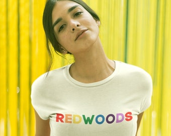 Redwoods Organic Crop Top | National Park Tees | Colorful, Inclusive, and Organic | LGBTQ
