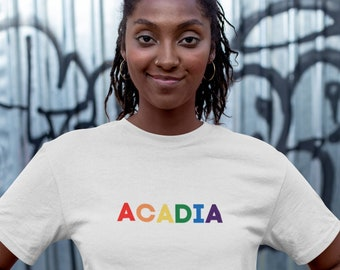 Acadia Organic Crop Top | National Park Tees | Colorful, Inclusive, and Organic | LGBTQ