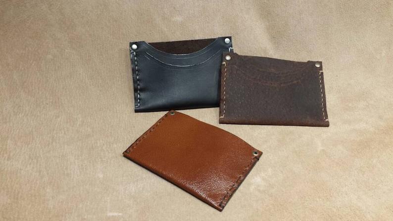 handmade card case or minimalist wallet  etsy