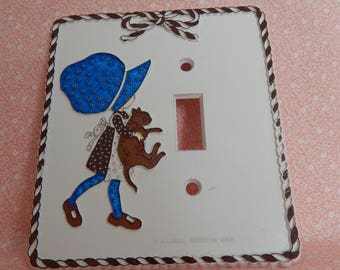 Vintage Holly Hobbie Light Switch Cover