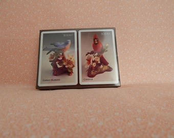Vintage Boehm Playing Cards, Unopened, Eastern Bluebird and Cardinal