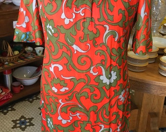 Knit Bright and Beautiful Groovy Dress Vintage
