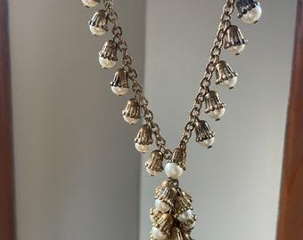 1930s Rare Faux Pearl Drop Necklace