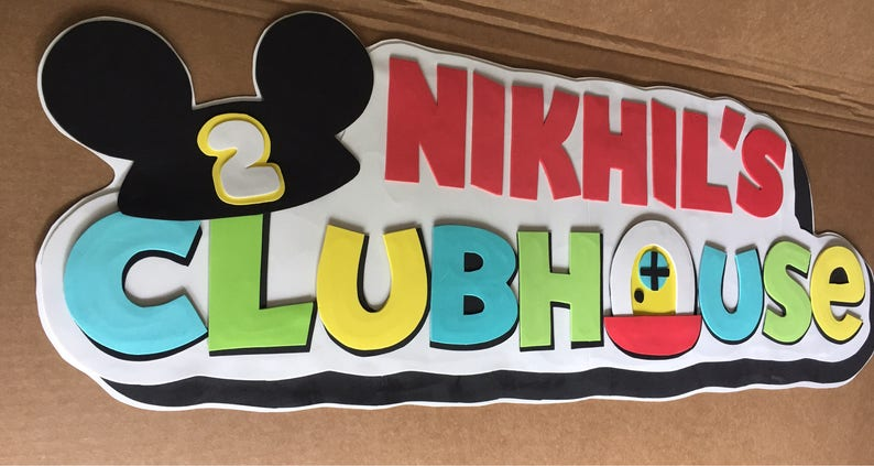 mickey mouse clubhouse kids name
