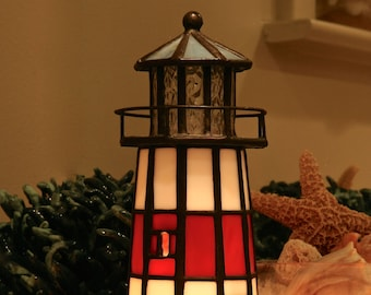 Stained Glass Electric LIGHTHOUSE