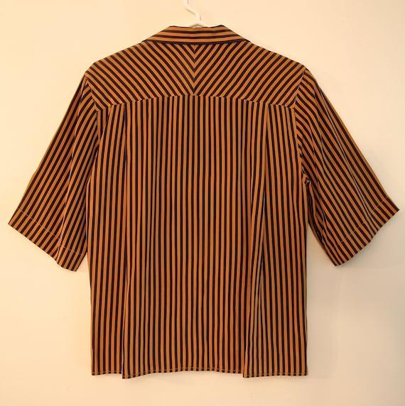 Vintage Short Sleeve Blouse - PERRY ELLIS - image 4