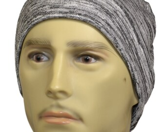 Men s Chemotherapy Cancer Hat Bamboo Cotton Knit Cap Hat Bald Alopecia in  Soft Gray 89b936906c0b
