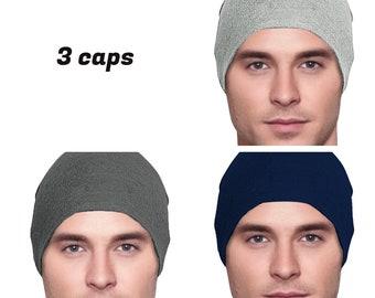 3 Cancer Hats - Men s Chemo Cap a797724cf538