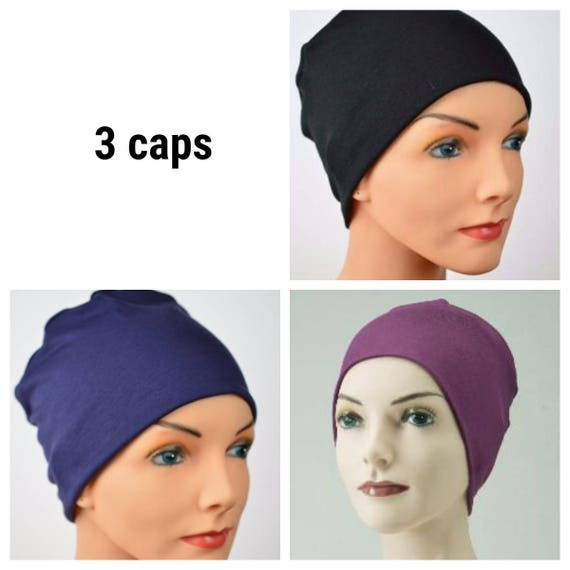 df885af8207 3 Cancer Hats Chemo Cap Cancer Beanie Sleep Casual