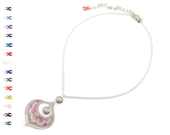 Confectionery Dream - Back Drop Necklace - Flower Necklace - Inspirational Necklace - Silver Jewelry