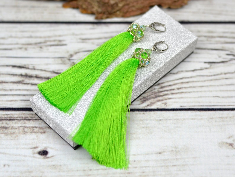 Boho gift christmas beauty gift tassel earrings clothing gift image 0