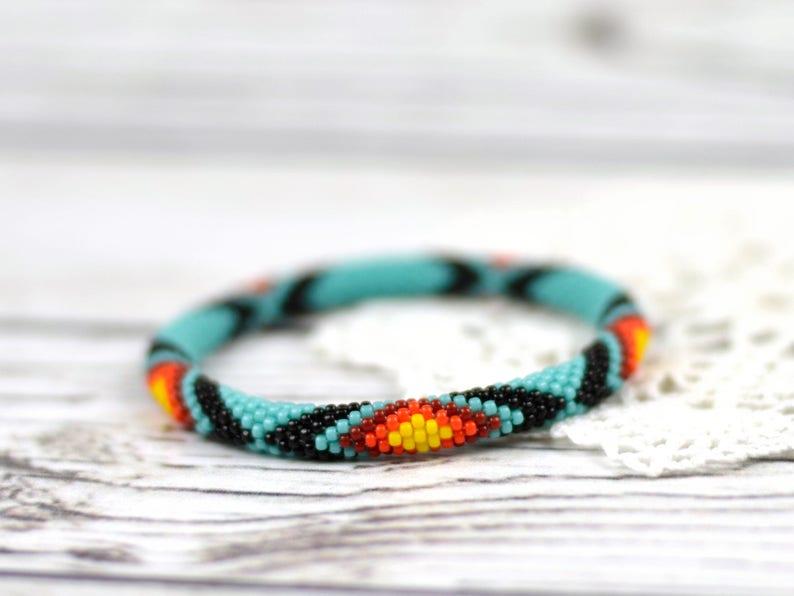Turquoise bracelet everyday bracelet ethnic jewelry tribal bracelet friendship bracelet beaded bracelet for women bracelet gift for wife