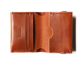 Handmade Vegetable Tanned Leather Wallet - Tan Colour (LV01)