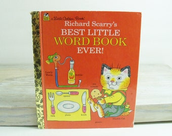 Richard Scarry's Best Little Word Book Ever - Vintage Children's Book - 1997 - Little Golden Book, by Richard Scarry - No 98778