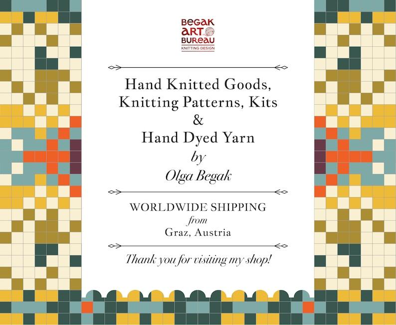 Pom Pom Hat Knitting Kit Hand Dyed Yarn Pom Pom Hat Knitting Pattern DIY Pom Pom Beanie Kit