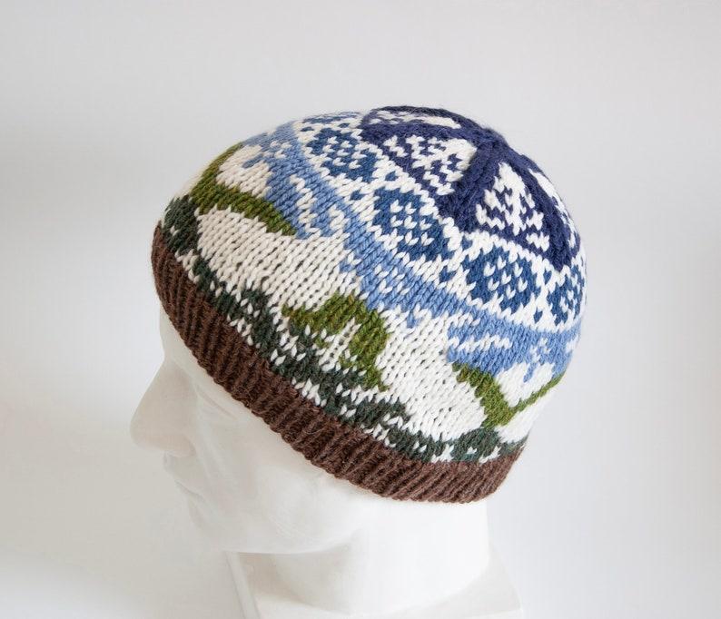 f69a90af4 Selbu Bunny Knitted Wool Hat | Chunky Knit Norwegian Beanie | Winter Ski Hat