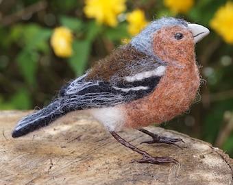 Needle Felt Chaffinch Bird Sculpture