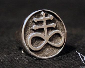 Satanic ring   Etsy