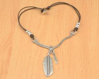 sea necklace ocean charm necklace dolphin shell starfish zamak sea charms beach jewelry kangaroo leather jewelry