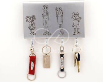 personalized key holder, family key holder, wall key rack, key hanger, home decor, key hook, new home gift, wall decor, wedding gift