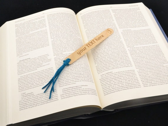 Personalized Bookmark Book Lover Gift Custom Engraved Wood Etsy