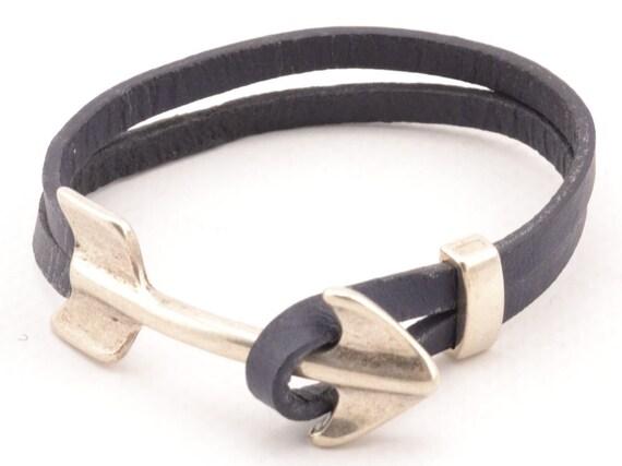 Arrow Bracelet Mens Leather Bracelet Mens Fashion Arrow Etsy