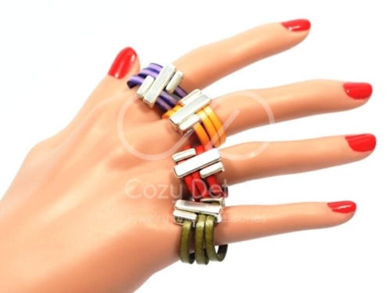fb130a249466 Anillo en Cuero anillo de mujer anillo hecho a mano para