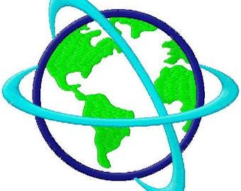 Planet Earth Applique Embroidery Design