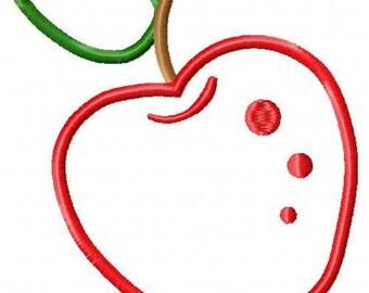 Apple Applique Embroidery Design 017