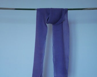 Purple naturally dyed scarf