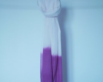 Naturally dyed scarf