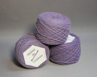 Purple Merino, naturally hand dyed wool