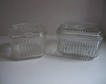 Glass storage containers Etsy